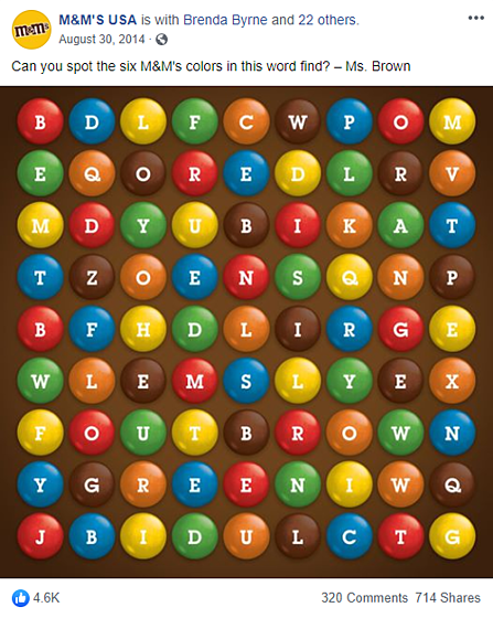 M&M gamification example