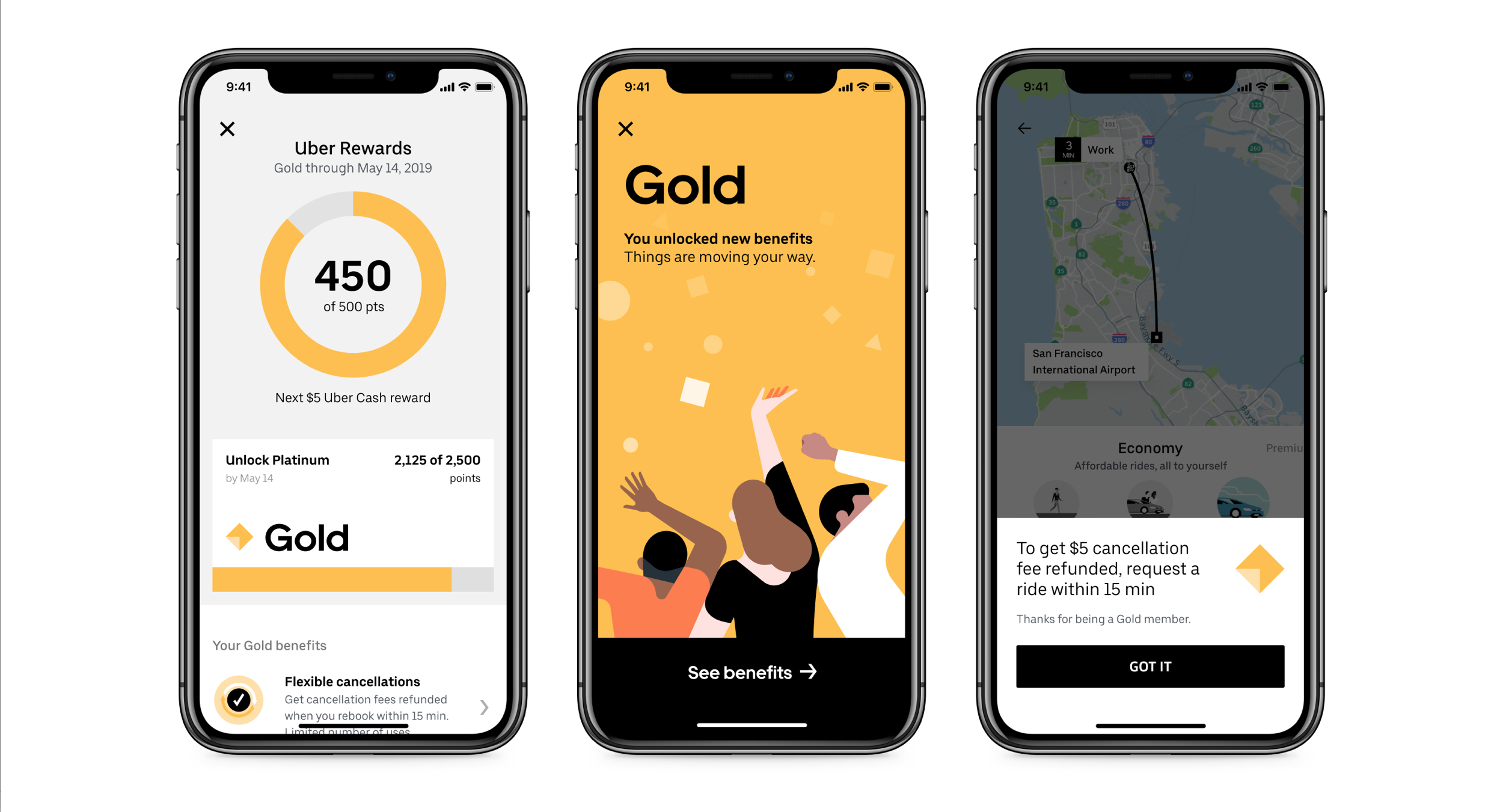 Uber-Rewards gamification example